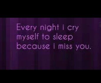 Cry cause I miss you quote
