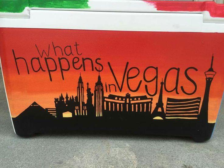 ce qui se passe à Vegas reste à Vegas Las Vegas côté coucher de soleil plus sombre   – Frat Coolers