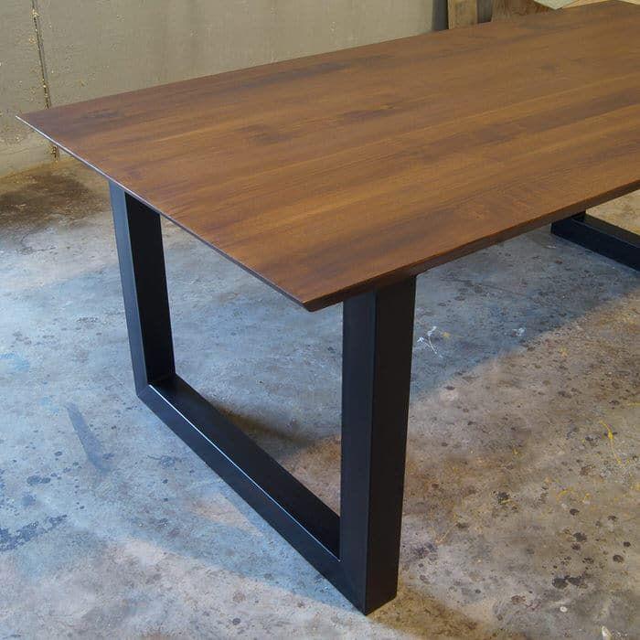 Tavolo legno massello di castagno con bordi 45 gradi (con