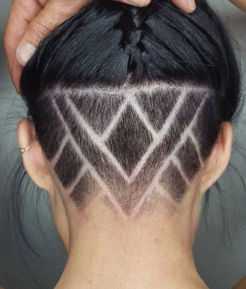 shaved hair design ideas