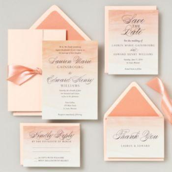 Ombré Wedding Invitation - Lauren & Edward