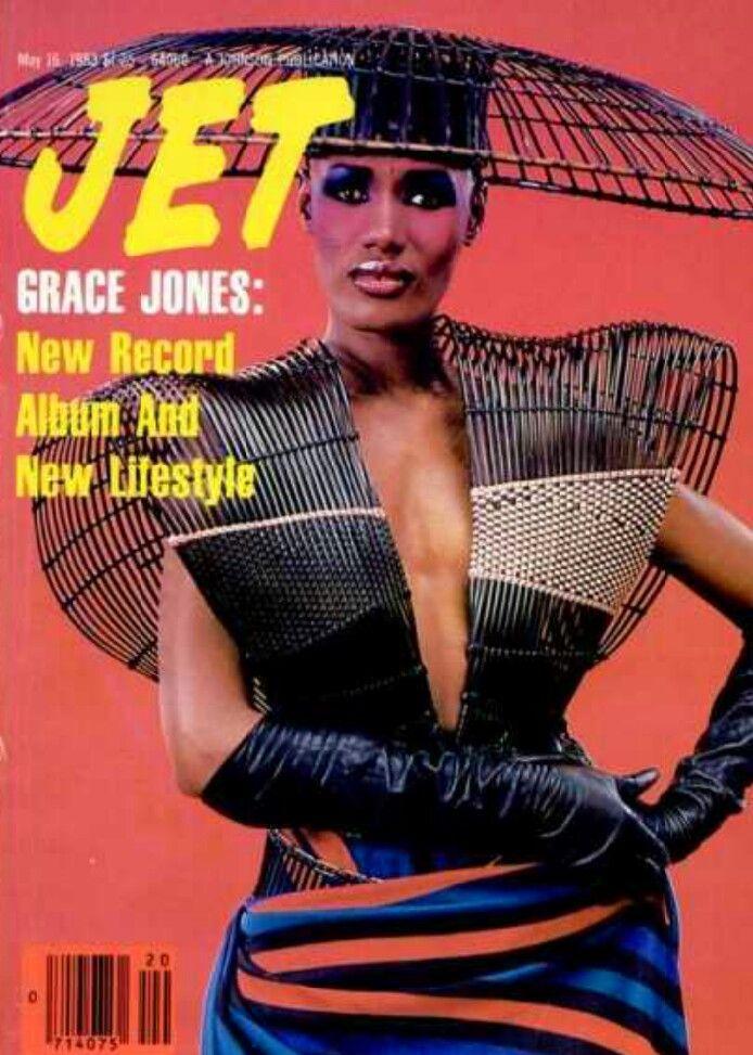 MODEL/ ENTERTAINER |  GRACE JONES JET MAGAZINE MAY16,,1983  COVER