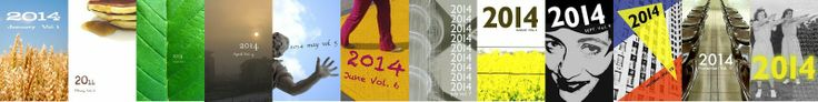 The covers of the twelve 2014 volumes. Aren't they just gorgeous? They're even more wondrous in person :)