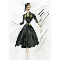 Edith Head costume design sketches for Lucille Ball & guest stars from The Lucy Show or Here's Lucy
