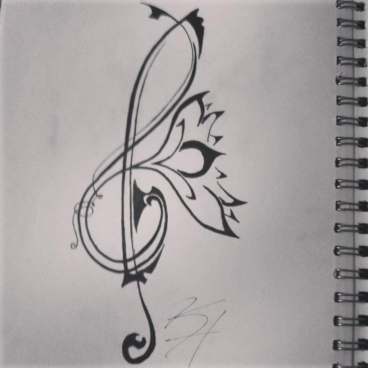 Best 18 my art tattoo designs ideas on pinterest art tattoos music treble trebleclef tattoo lotus flower mightylinksfo