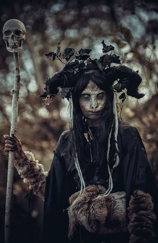 """fuckyeahpaganism: """" Baba Yaga ~ she was depicted as a fierce, cruel, and penetrating witch who would wear down the insignificant with her curt tongue. It is thought that Baba Yaga was a representation..."""