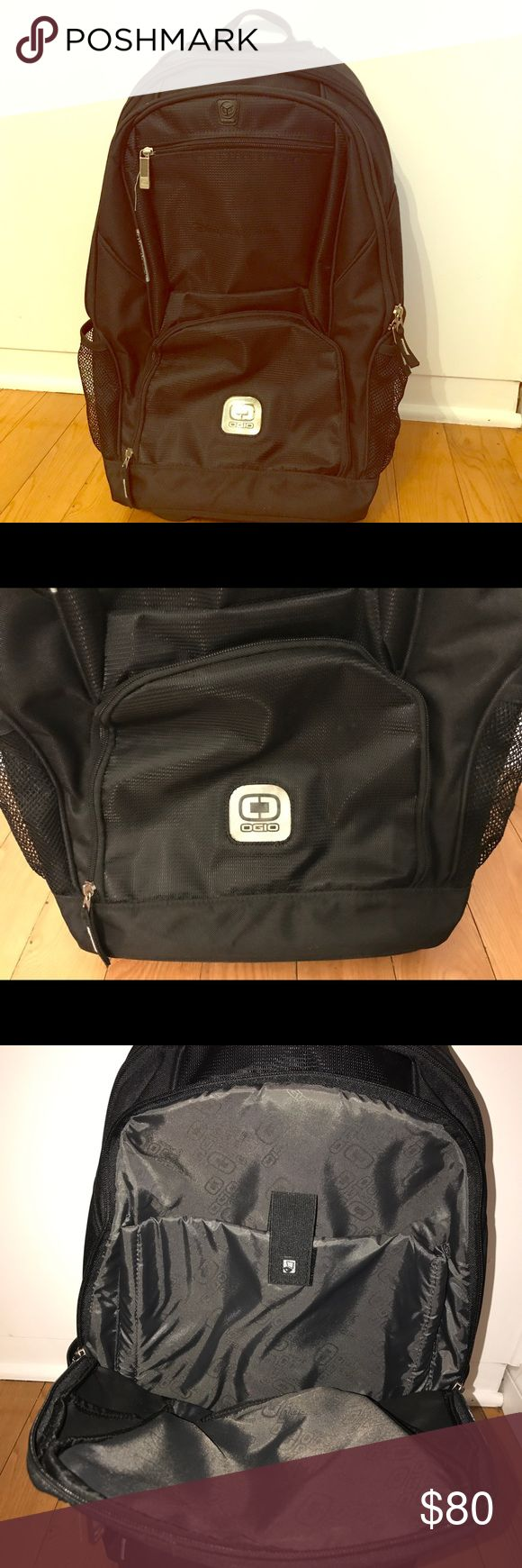 """Ogio Wheeled Phantom Travel Backpack New OGIO Wheeled backpack! Used only once! Part pack, part roller bag, the streamlined Phantom Travel Bag rolls past the competition. This bag easily holds all your necessities and then some for any activity.   Dimensions: 20.5"""" Hx 13.5"""" Wx 10.25"""" D View Specs Recommended Use: Travel OGIO Bags Backpacks"""