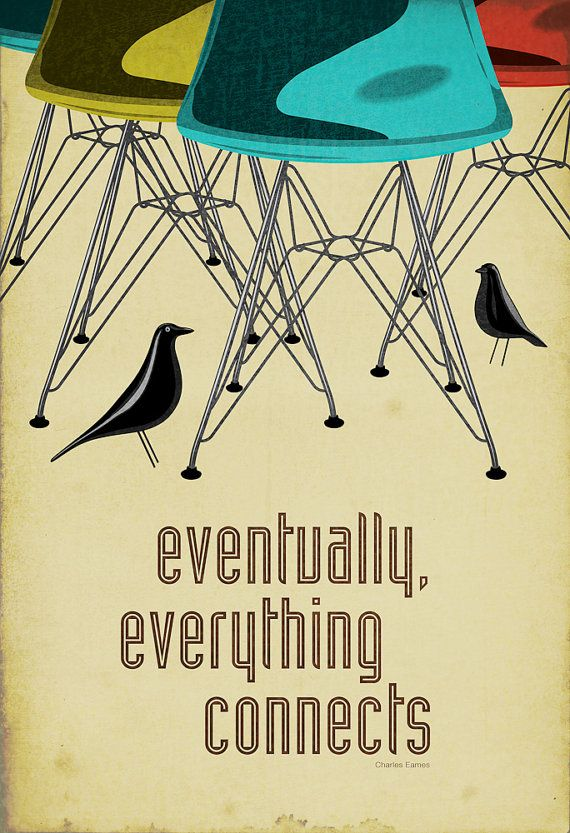Eames: Birds Prints, Wall Art, Chairs, Eames Posters, Charles Eames, Retro Home Decor, Graphics Design, Ray Eames, Houses Birds