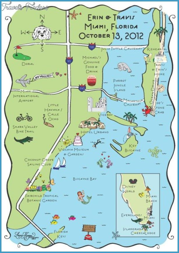 Miami Map Tourist Attractions Http Travelsfinders Com