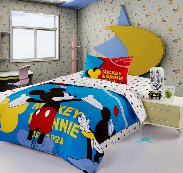 Mickey And Minnie White Disney Bedding Sets