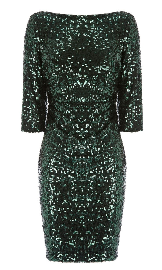 Coast Green Sequin Dress. I need to find one like this but for a lot less. Christmas dress!