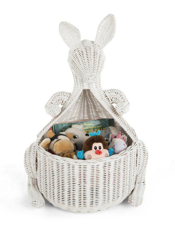 Kangaroo Wicker Storage Basket Wicker Baskets Storage Wicker Toy Basket