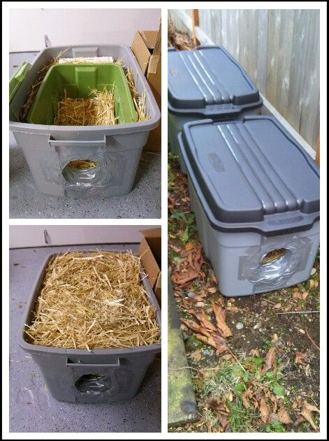DIY ferel cat shelters