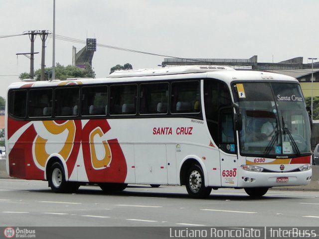 Ônibus da empresa Viação Santa Cruz, carro 6380, carroceria Marcopolo Paradiso G6 1200 HD, chassi Mercedes-Benz O-400RSE. Foto na cidade de São Paulo-SP por Luciano Roncolato | InterBuss, publicada em 04/05/2011 17:31:07.
