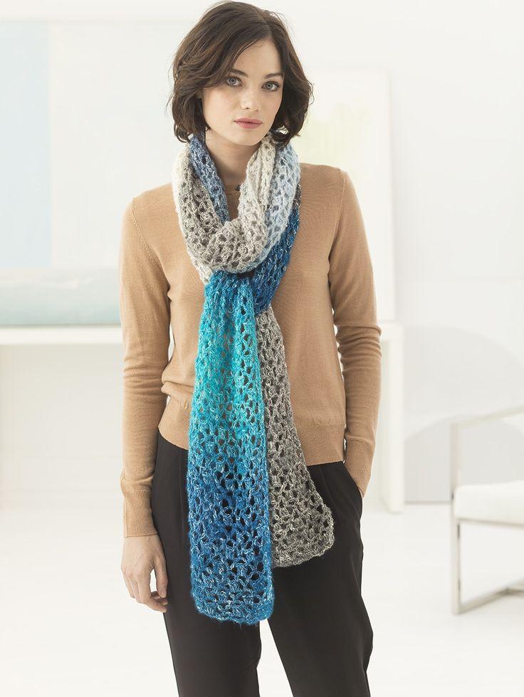 Selene Colorblock Super Scarf (Crochet) - Patterns - Lion Brand Yarn