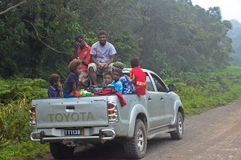 The classic mode of transport in Vanuatu. How many people can you fit into the back of the truck? I don't think the novelty ever wore off. I miss the feeling of the wind whooshing past my face whilst sitting on the back of the truck.