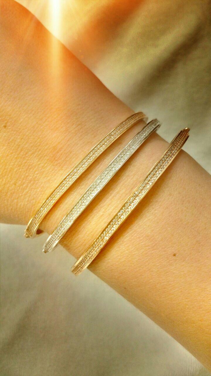 gold fancy bracelets with stones 14k