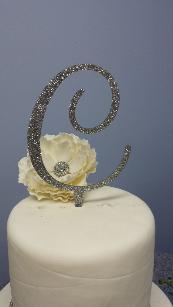 5 Tall Silver or Gold Glitter Acrylic Cake by SpectacularEvents