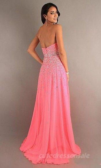 Natural Pink Prom Dresses Long Chiffon Prom Dresses 05465