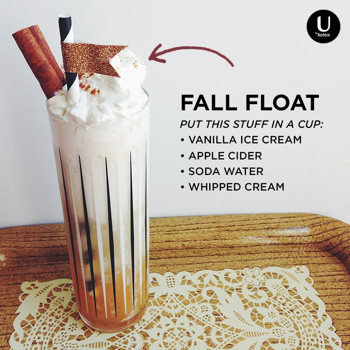 ... all your favorites by whipping up this float made with cider and soda