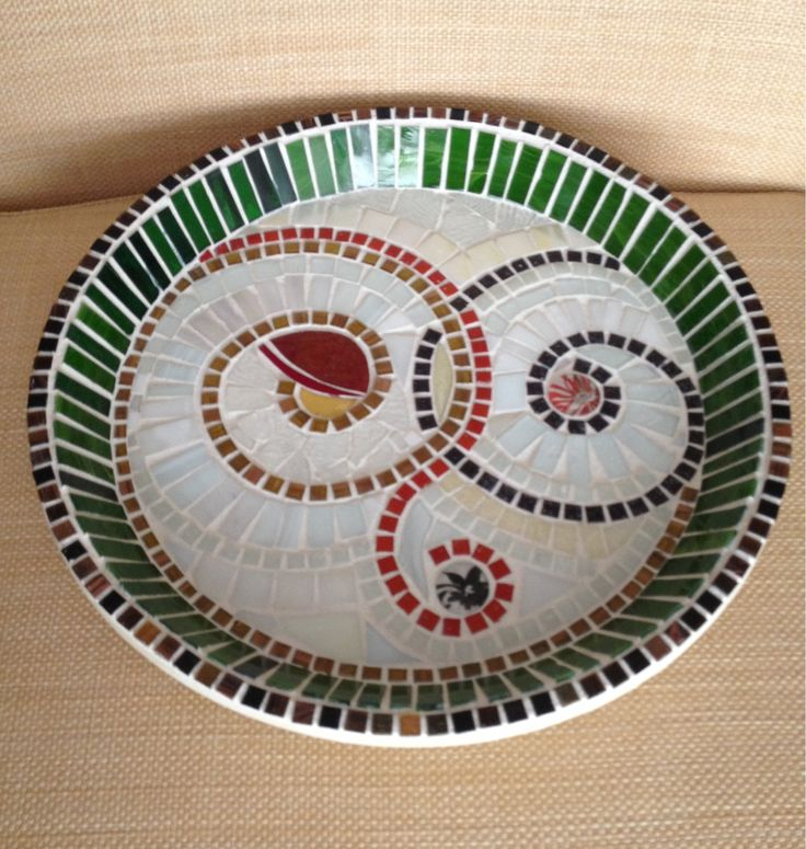 Mosaic plate 136 best Mosaic Dishes images