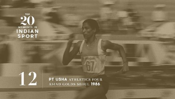 12: PT Usha's gold rush at the 1986 Seoul Asiad - PT Usha made India proud in the Asian Games, winning five medals, including four golds, and setting new records. Source: JUNJI KUROKAWA/AFP/Getty Images   www.piclectica.com #piclectica