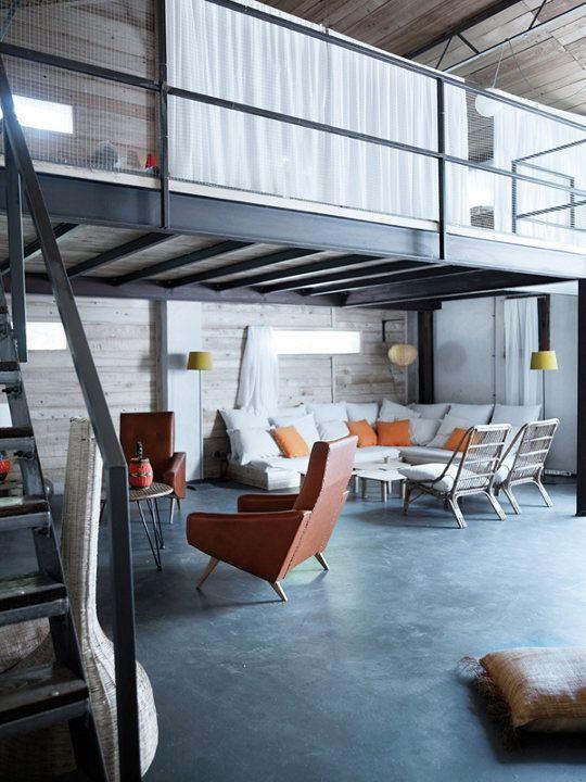 Les 45 meilleures images propos de mezzanine escalier - Loft design industriel cloud studio ...