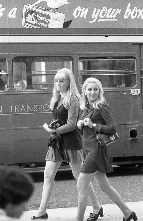 Fashionable 60s girls walking down the Kings Road! Our London. shop is now (In 2014!) at 141 Kings Road, SW3 4PW16