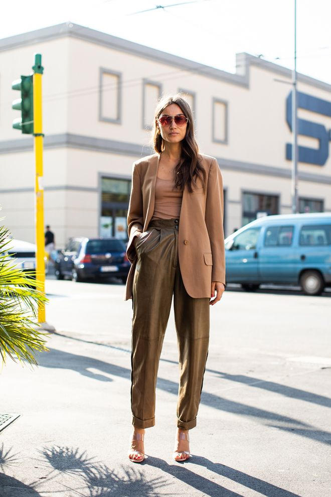 Street style à la Fashion Week printemps,été 2019 de Milan
