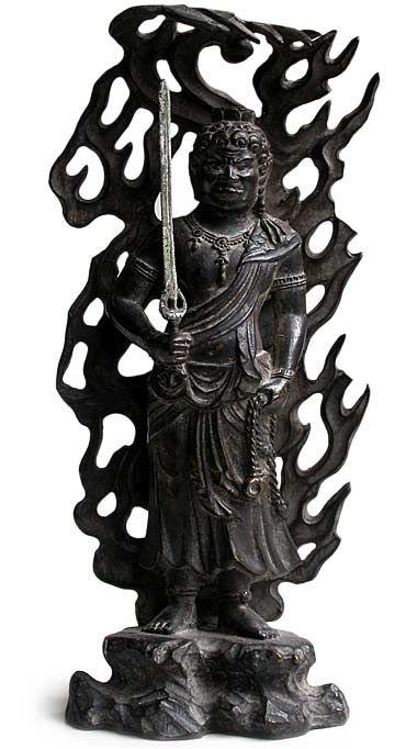 FUDOO MYOO   Bronze Angry Buddha Fudo Myoo