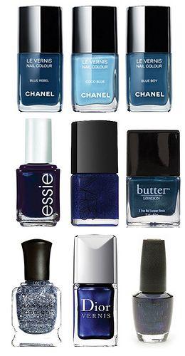 blue nail polish :)