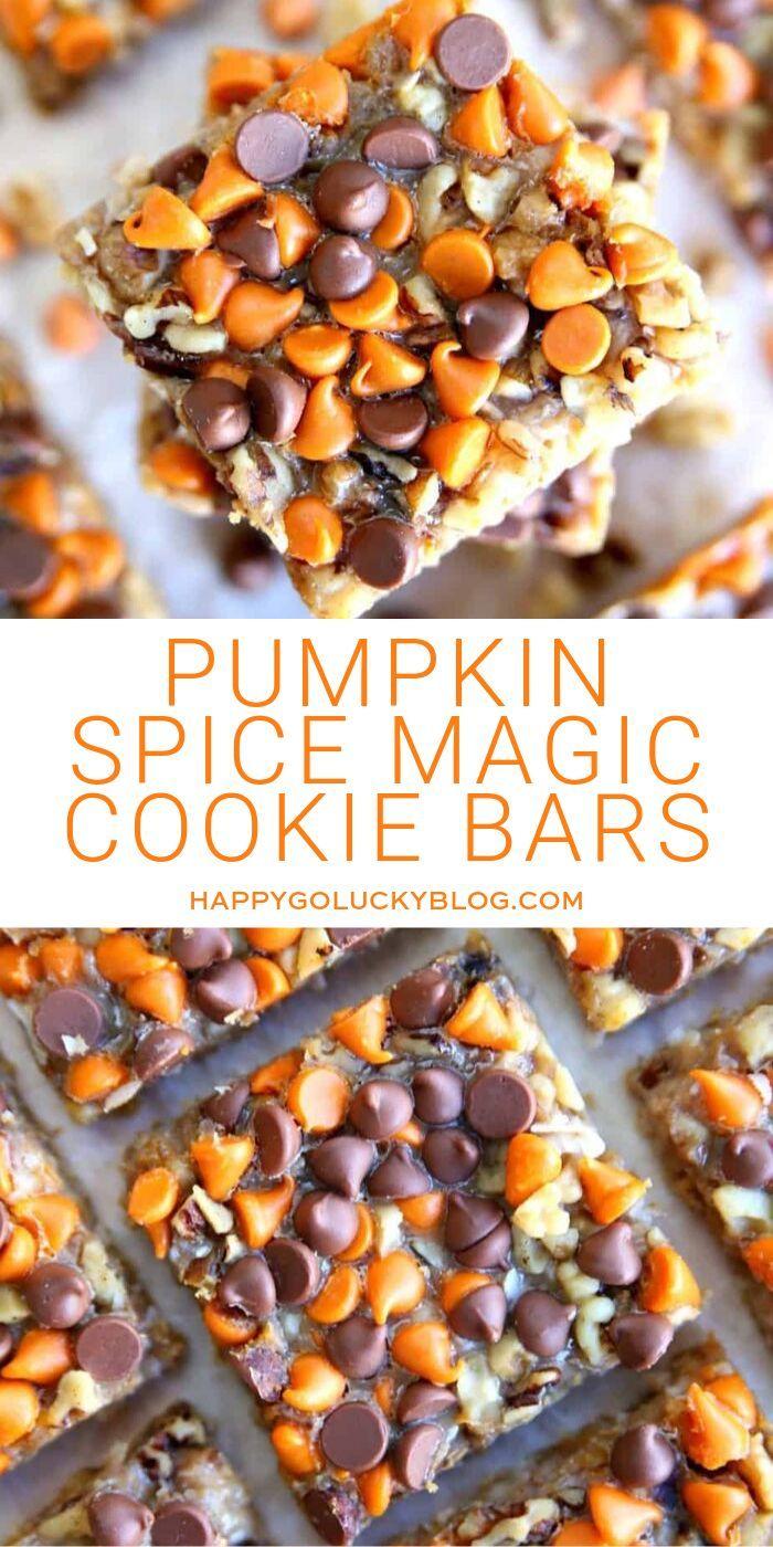 Pumpkin Spice Magic Cookie Bars