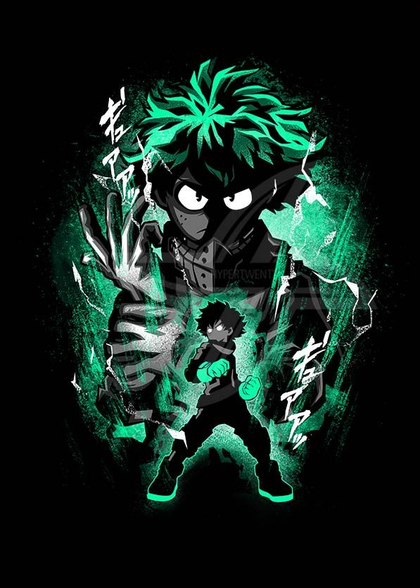 Hero Deku Metal Poster Print Hyper Twenty Displate Hero My Hero Academia Episodes Hero Wallpaper