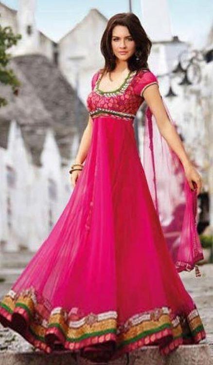 trendy pink shalwar kameez