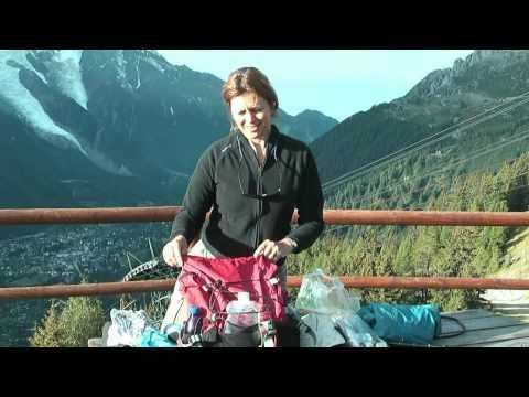 What I packed for my mini- Tour de Mont Blanc walk - read the article here http://www.heatheronhertravels.com/what-to-pack-tour-de-mont-blanc-walking/ #Tourdemontblanc #Chamonix #France #hiking #video