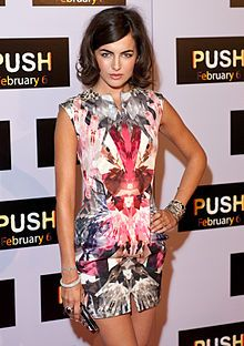 "Camilla Belle in a 2009 dress by Alexander McQueen, listed among ""100 Best Dresses of the Decade"" by InStyle Magazine."