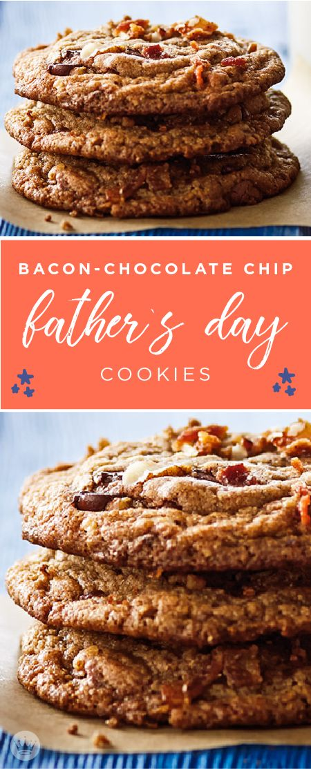 When it comes to dessert recipes that dad is sure to love—you can't go wrong with this recipe for Bacon-Chocolate Chip Father's Day Cookies from Hallmark! Thanks to crispy bacon and toasted pecans, this smoky-sweet treat can't be beat. Plus, you could even make them as a homemade gift idea!
