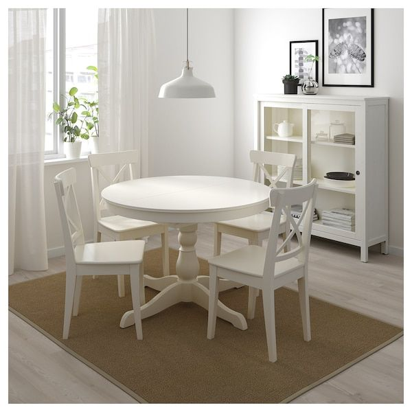 Ikea Ingatorp White Extendable Table In 2020 Small Kitchen Tables Ikea Dinning Table Kitchen Tables Ikea