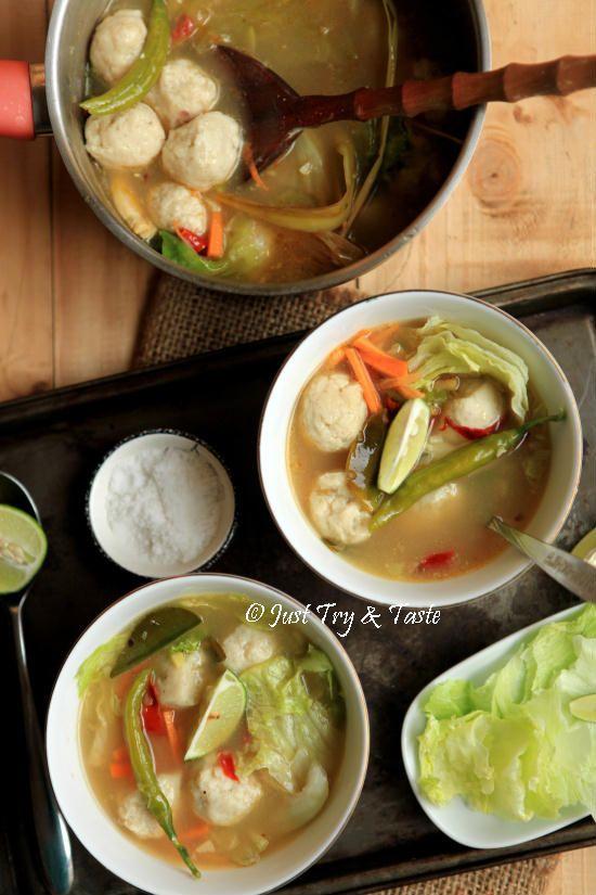Bakso Ikan Homemade dengan Kuah a la Thai