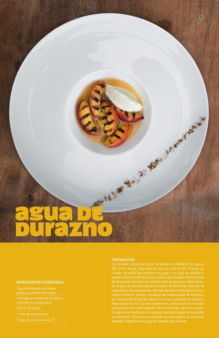 Agua de durazno / IMG Pin Campaña #durazno #garammasala