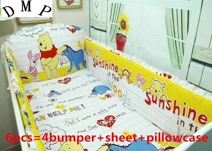42.20$  Watch now - http://ali9y6.shopchina.info/1/go.php?t=32323600222 - Promotion! 6PCS Baby cot bedding kit bed around cribs for babies cot bumper (bumper+sheet+pillow cover)  #SHOPPING