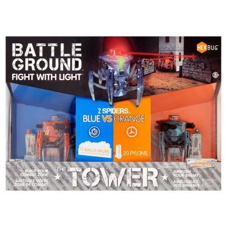 Hexbug The Tower Battle Ground Fight with Light Spider Tower, Blue