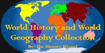 Updated for the 2014-2015 School Year!  Now includes all of my World History/World Geography Lesson Plans except my powerpoints. (Multiple Powerpoint files are too large to place in collections; you can buy them individually)  This great lesson plan collection includes over 200 internet based activities covering world history from Mesopotamia to the Persian Gulf War.