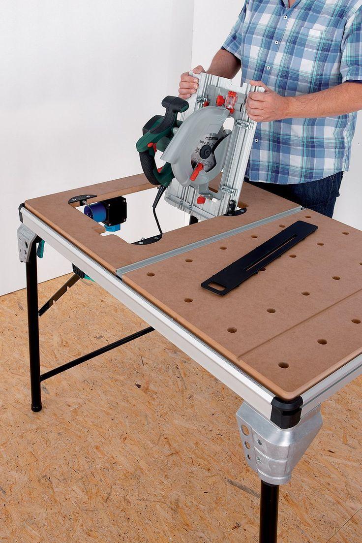 Tisch mit Maschinen versenkbar inkl steckdosen u absaugung