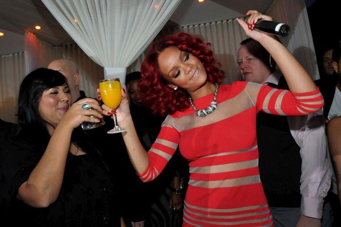 Rihanna's drunken antics