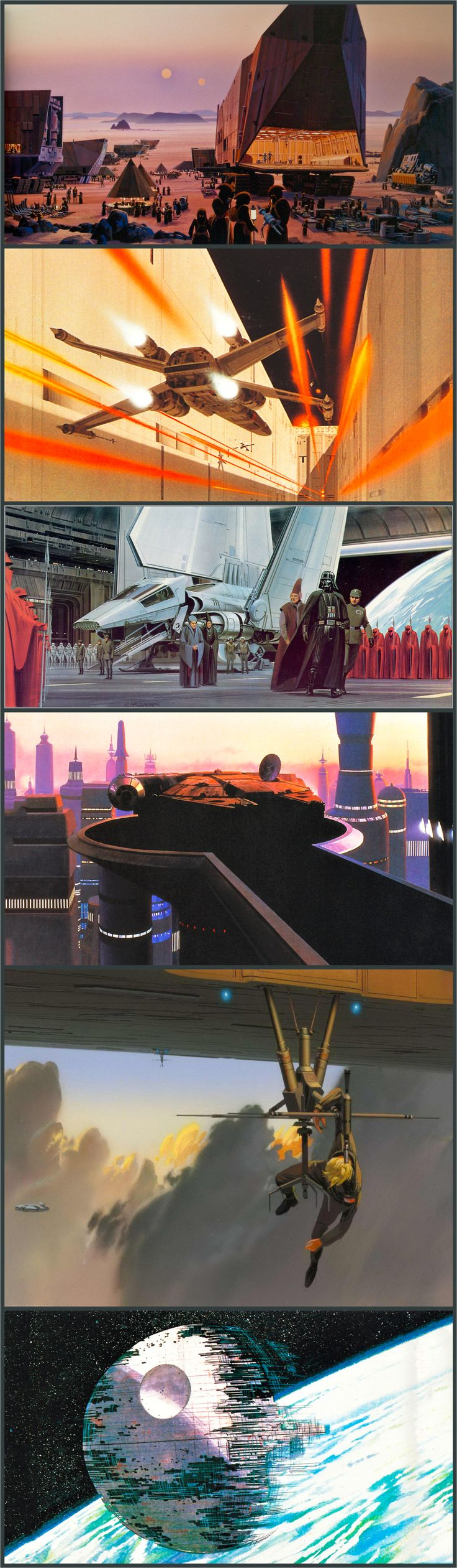 Original concept art for Star Wars by Ralph McQuarrie.