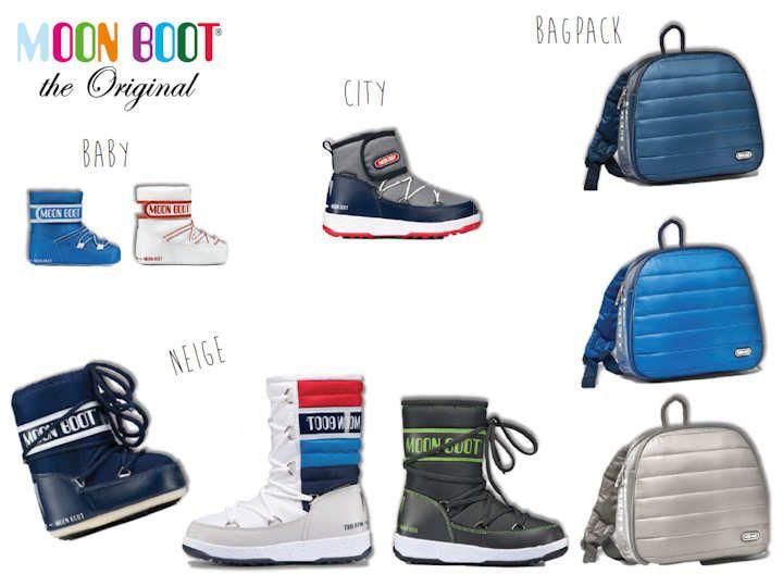 Sac à dos et chaussures Moon Boot pour garçon ♥ @kibodiosocial