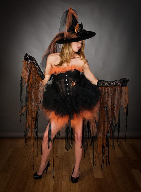 Custom Size lace Orange and Black Feather Burlesque by Glamtastik