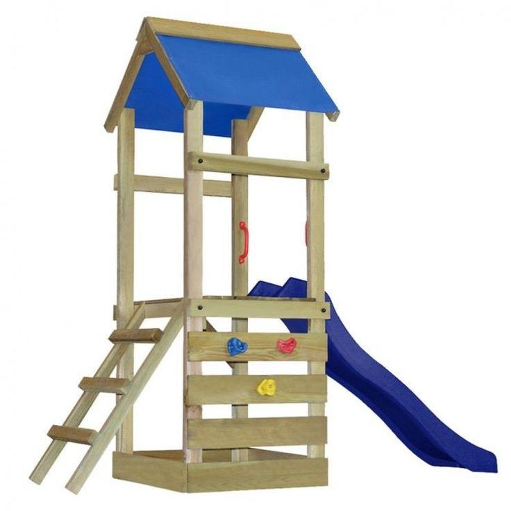 Kids Playhouse Set Ladder Slide Wooden Playground Children Fun Playset Garden #KidsPlayhouseSet