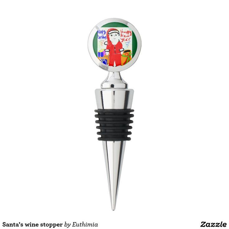 Santa's wine stopper